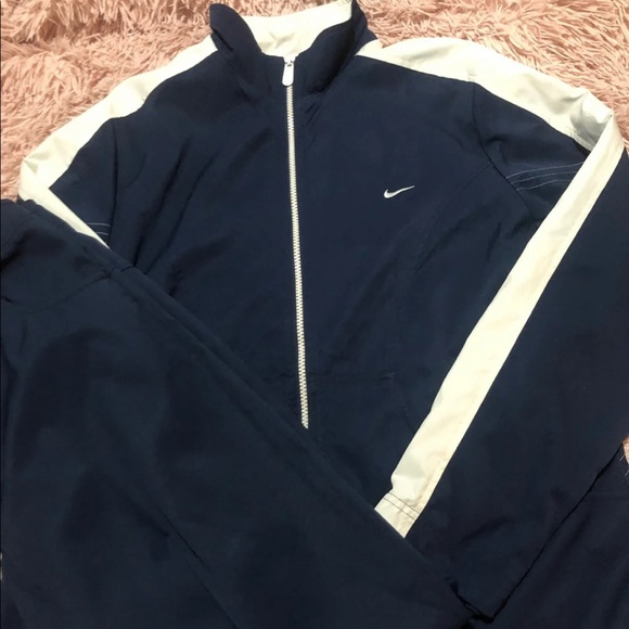 Nike Two Piece Navy Tracksuit Set Warmup